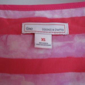 GAP Dresses - GAP Hot Pink Striped Drawstring Tank Top Dress
